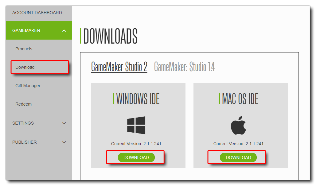 game maker studio 1.4 mac download