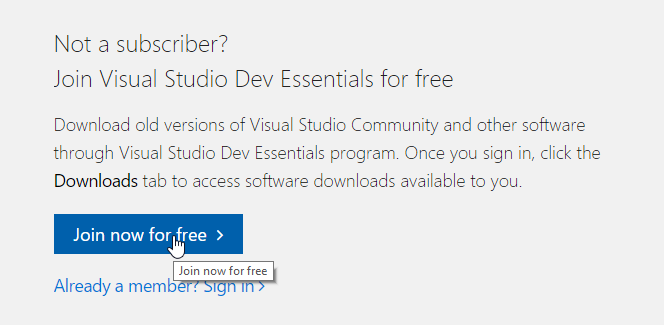 How to download Visual Studio versions older than 2017 – YoYo Games